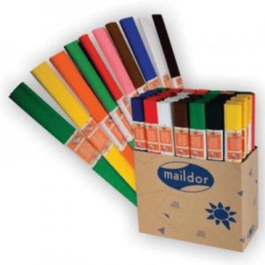 Креповая бумага 50см x 2.5м тёмно-оранжевая