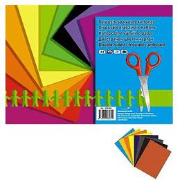 Цветной картон SMILTAINIS A4/8 листов двухсторонний