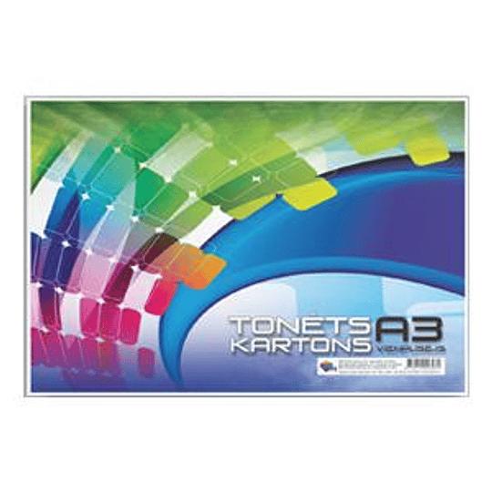 Цветной картон A3/8 цветов односторонний