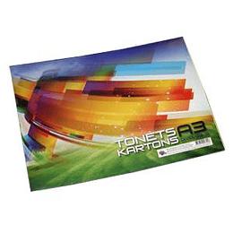 Цветной картон A3/8 цветов двухсторонний