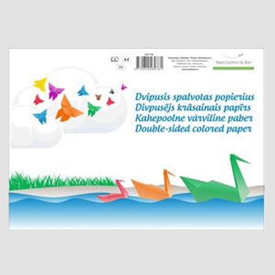 Апликационная бумага SMILTAINIS A4/8 цветов двухсторонняя