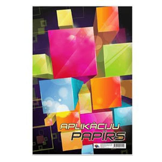 Апликационная бумага двухсторонняя А3/8 цветов