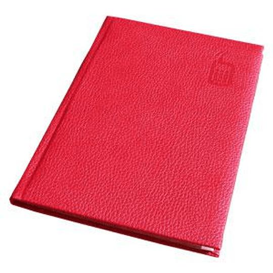 Телефонная книга AURORA A5/92 в линейку, тёмно красный
