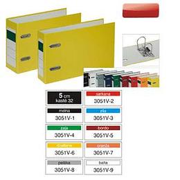 Reģistrs Multi-S, A5/50mm, PVC/PVC, horizontāls, dažādas krāsas