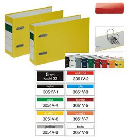 Регистр Multi-S горизонтальный A5/50мм PVC/PVC разные цвета