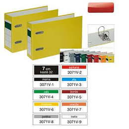 Reģistrs Multi-S, A5/70mm, horizontāls, dažādas krāsas