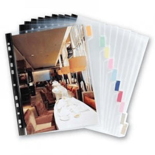 Разделитель для документов А4, 1-10 с указателями
