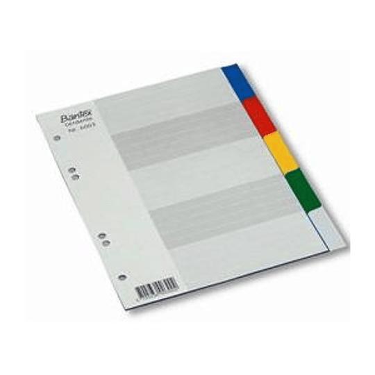 Разделитель BANTEX A5/1-5, цветной