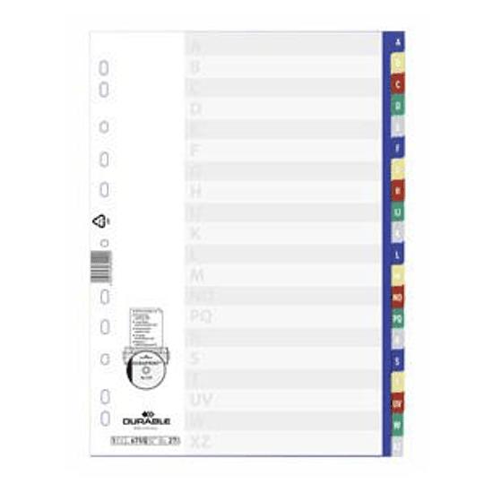 Разделитель DURABLE A4/A-Z, цветной