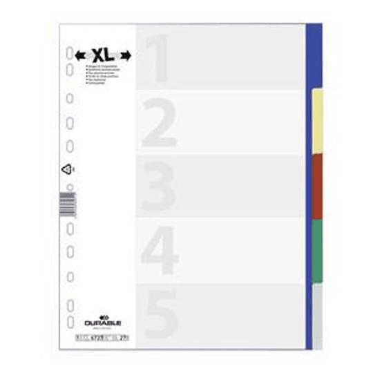 Разделитель DURABLE MAXI A4/5, цветной