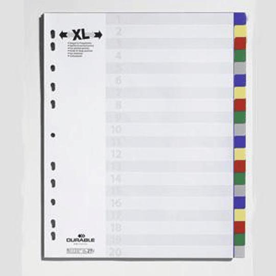 Разделитель DURABLE MAXI A4/20, цветной