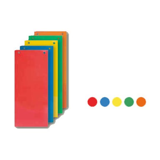 Разделители картонные для документов 100шт., цвет- ассорти