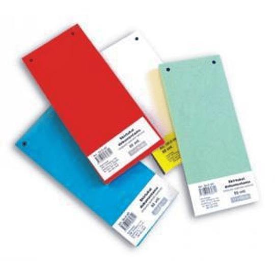 Разделители картонные для документов 100шт.синие