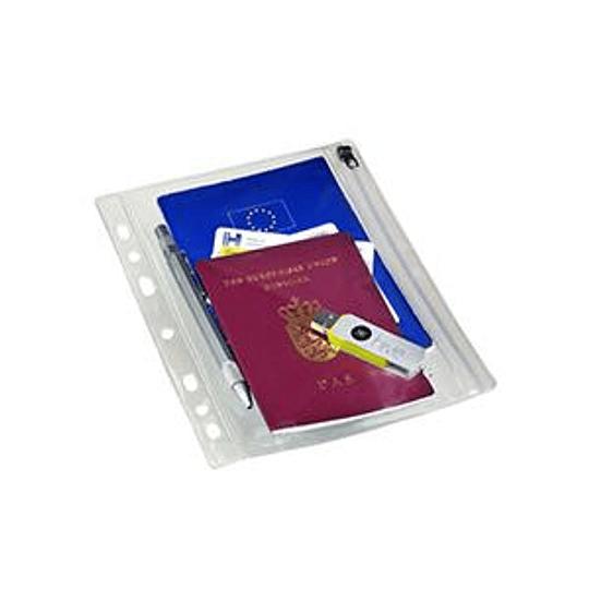 Кармашек для документов BANTEX A5, закрывающийся, 1 шт