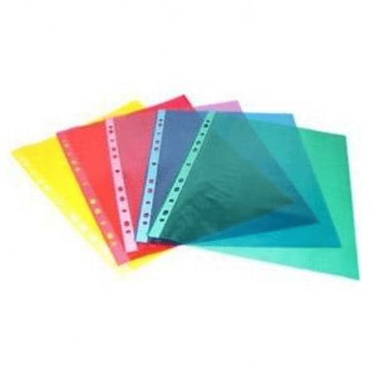 Кармашки матовые PP A4/50 штук синие