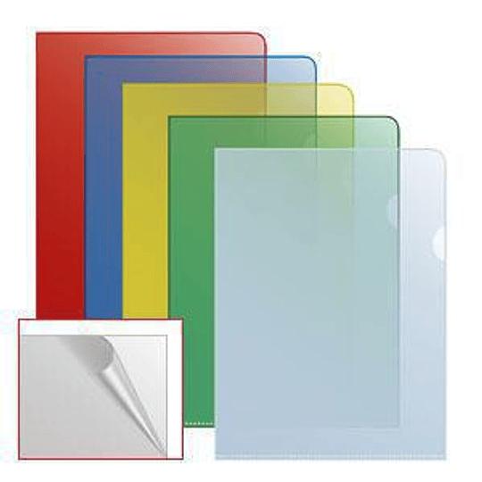 Папка-уголок матовая A4 прозрачная