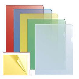 Папка-уголок матовая A4 жёлтая