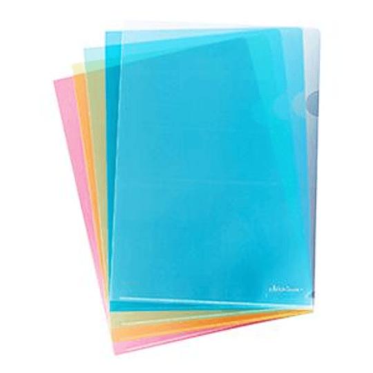 Папка-уголок глянцевая A4, 160мкр. прозрачная, красная