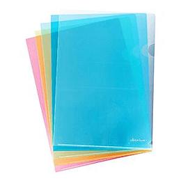 Папка-уголок глянцевая A4, 160мкр. прозрачная, синяя