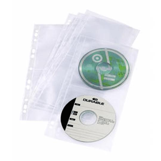 Кармашки для 4 CD/DVD с перфорацией, 5 шт., DURABLE