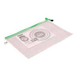 Папка с молнией, армированная синтетической нитью A4 прозрачная