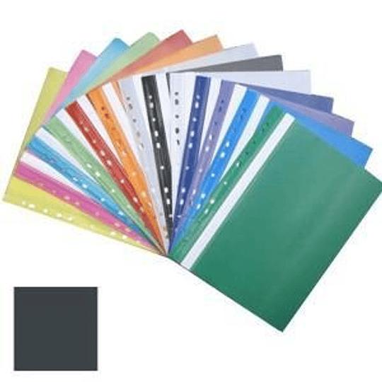 Подшиваемая папка-скоросшиватель А4 с перфорацией, матовая, черная