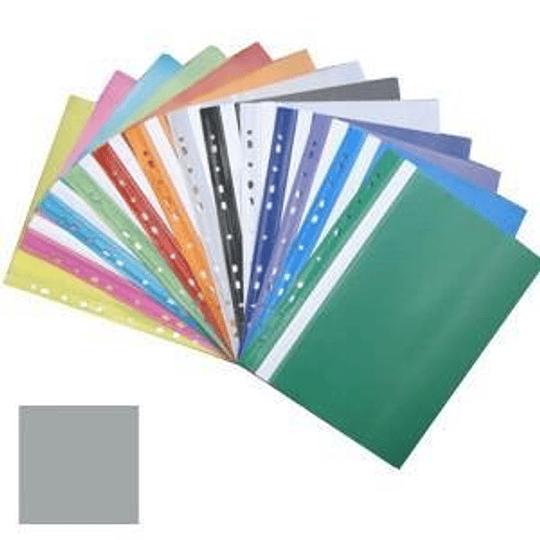 Подшиваемая папка-скоросшиватель А4 с перфорацией, матовая, серая