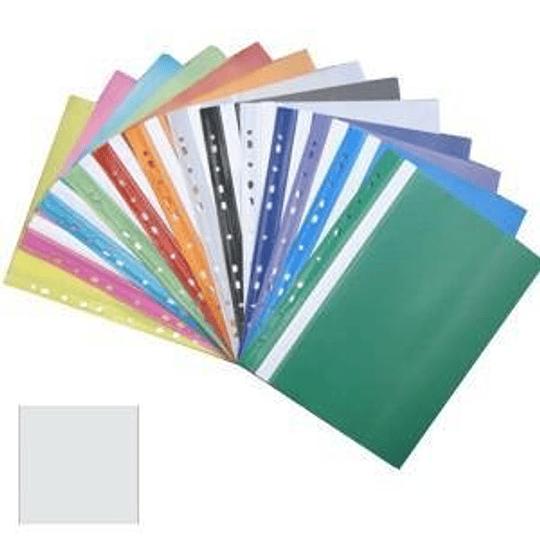 Подшиваемая папка-скоросшиватель А4 с перфорацией, матовая, белая