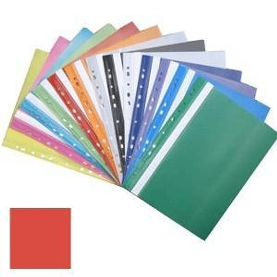 Подшиваемая папка-скоросшиватель А4 с перфорацией, матовая, красная