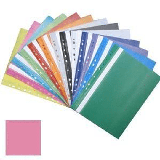 Подшиваемая папка-скоросшиватель А4 с перфорацией, матовая, розовая