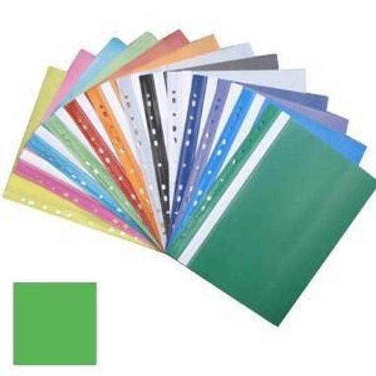 Подшиваемая папка-скоросшиватель А4 с перфорацией, матовая, зелёная