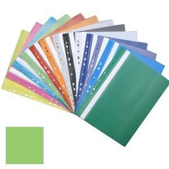 Подшиваемая папка-скоросшиватель А4 с перфорацией, матовая, светло-зелёная
