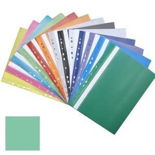 Подшиваемая папка-скоросшиватель А4 с перфорацией, матовая, цвет морской волны