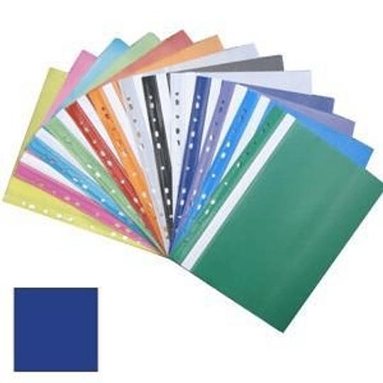 Подшиваемая папка-скоросшиватель А4 с перфорацией, матовая, темно-синяя