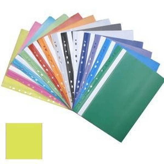 Подшиваемая папка-скоросшиватель А4 с перфорацией, матовая, желтая