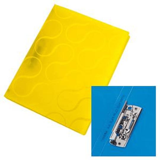 Папка с прижимом Panta Plast Omega A4 желтая