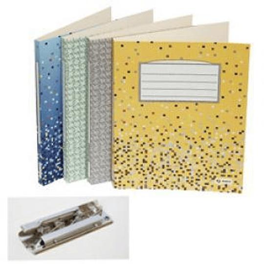 Папка картонная с прижимом Multi-S A4/18мм рябая серая