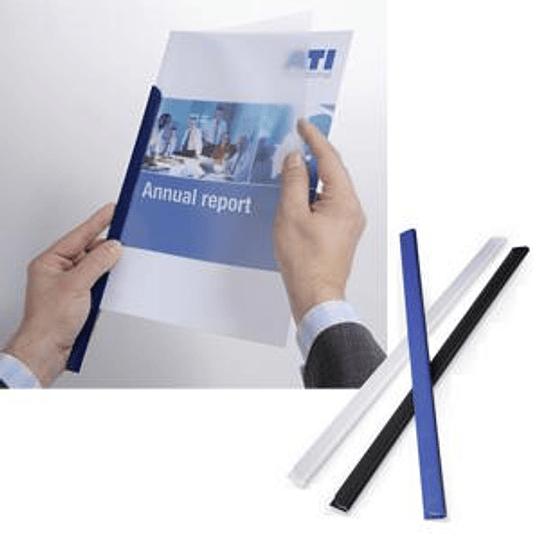 Зажимы для документов DURABLE до 30 листов тёмно-синие (10 штук)