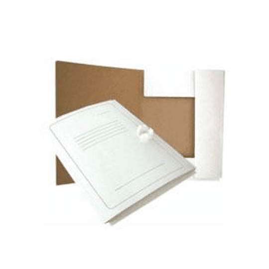 Папка картонная с лентами Smiltainis А4 белая