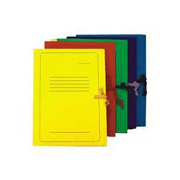 Папка картонная с лентами Smiltainis А4 желтая