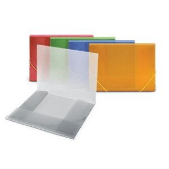 Папка с резинкой FORPUS A4, прозрачно-синяя