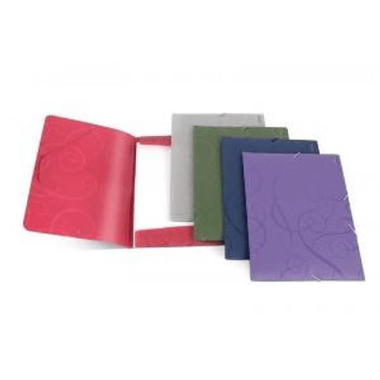 Папка на резинке FORPUS BAROCCO A4 фиолетовая