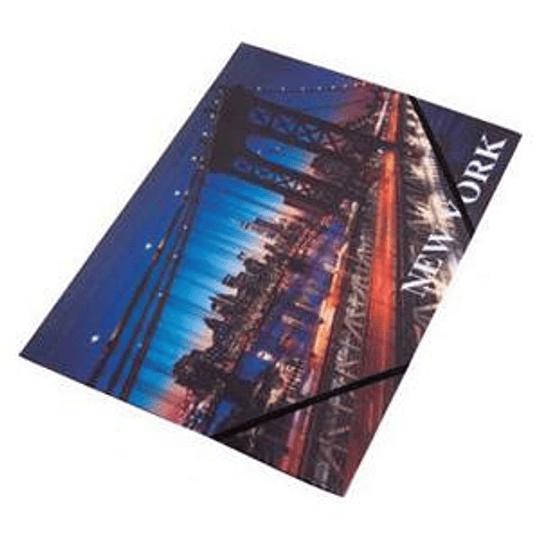Папка на резинке Panta Plast NEW YORK A4