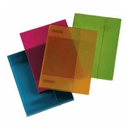 Папка на резинке AURORA A4/30мм прозрачная/фиолетовая