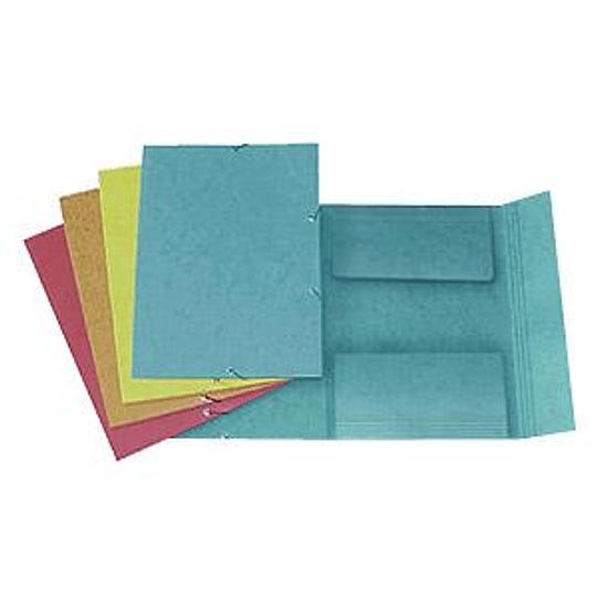 Папка картонная на резинке A4 жёлтая FORPUS