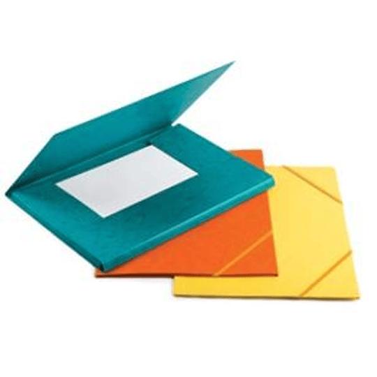 Папка картонная на резинке A4 оранжевая FORPUS
