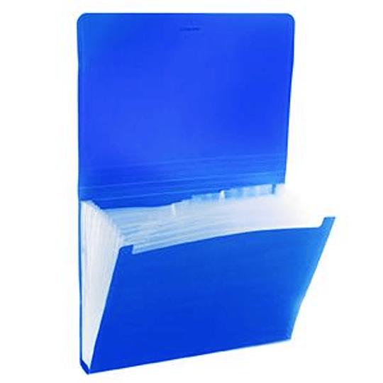 Папка-картотека Classic ErichKrause, 6 отделений, на резинке A4 синяя
