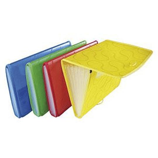 Папка-картотека OMEGA на резинке A4 красная