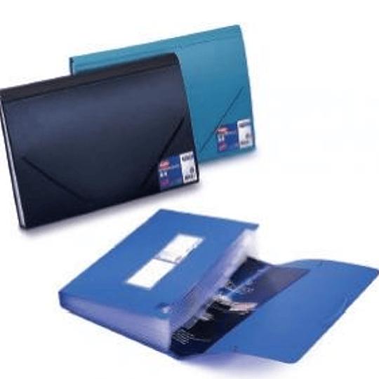 Папка-картотека на резинке A4 тёмно-синяя EAGLE