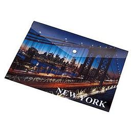 Папка на кнопке Panta Plast NEW YORK A5